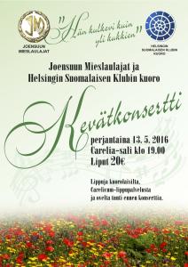 Kevätkonserttijuliste 2016